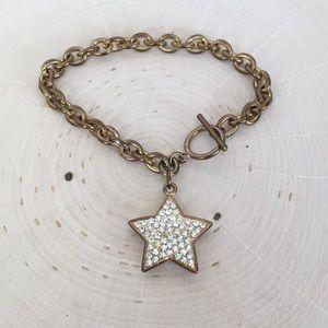 Rhinestone Star Vintage Brass Bracelets